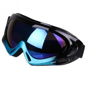 Unisex Anti-impact and Anti-wind Eye Protection Safety Glasses Single-deck Ski Goggles with Adjustable Belt For Outdoor Sports