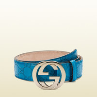 Gucci - belt with interlocking G buckle 114876AA61G4618