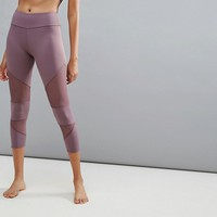 Onzie Mesh Panel Legging In Lilac at asos.com