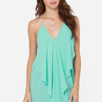 Tier for the Party Turquoise Dress