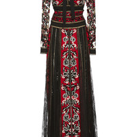 Embroidered Straight Fit Dress | Moda Operandi
