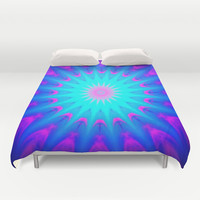 Pink & Blue Starlight Explosion Bright Duvet Cover by 2sweet4words Designs | Society6