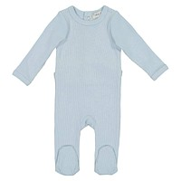 Lil Legs Unisex Baby Light Blue Ribbed Footie
