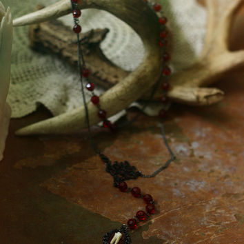 sanguine // goat tooth rosary