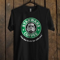 Stabilitees Starwars Coffee May the Froth T Shirt Mens T Shirt and Womens T Shirt *