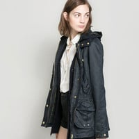WAXED COTTON PARKA - Jackets - TRF | ZARA United States