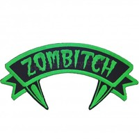 Kreepsville 666 Zombitch Iron On Patch | Punk Gothic Rockabilly