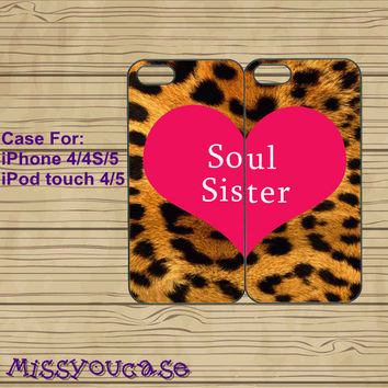 iphone 4 case,iphone 4s case,cute iphone 4 case,iphone 5 case,cute iphone 5 case,soul sister,best friends case,in plasitc,silicone.