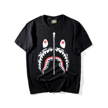 CREY9N BAPE Men Fashion Casual Pattern Print T-shirt.