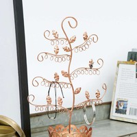 Copper Flora Tree Jewellery Stand - Urban Outfitters