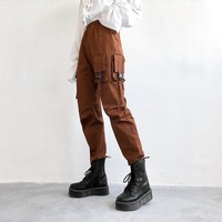 Women's Fashion High Waist With Pocket Hip-hop Hot Sale Pants [1918873895009]