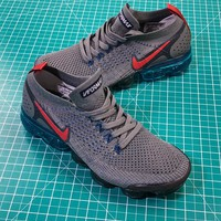 Nike Air Vapormax Flyknit 2.0 Black Grey Red Sport Running Shoes - Best Online Sale