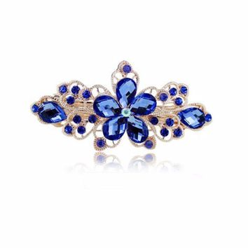 Flower Rhinestone Hair Pins Hairpins Clip Hair Accessories
