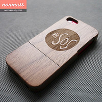 Wood iPhone 5C case - 5sos iPhone 5C case - Wooden iPhone 5C Case - Cool iPhone 5C case - Walnut - 130019