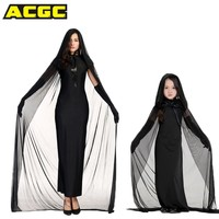 MEDIEVAL Ghost Bride Queen Cosplay Costume Witch Vampire Cloak Velvet Hooded Cape Fancy Dress Halloween