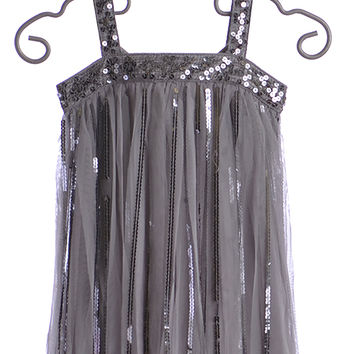 Biscotti Couture Dress for Tweens Silver Flapper