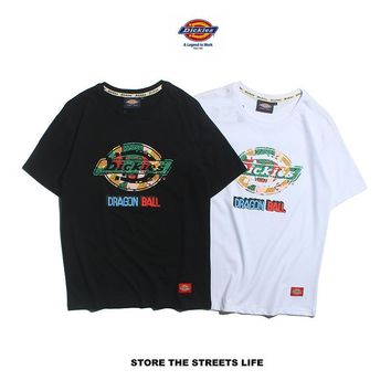 Casual Couple Short Sleeve Round-neck Print T-shirts [1840849649715]