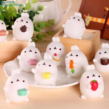 Rabbit Squishy Slow Rising Kawaii Mini Mochi Phone Strap Squeeze Pinch Stretchy Cute Animal Pendant Bread Cake Kids Toys Gifts
