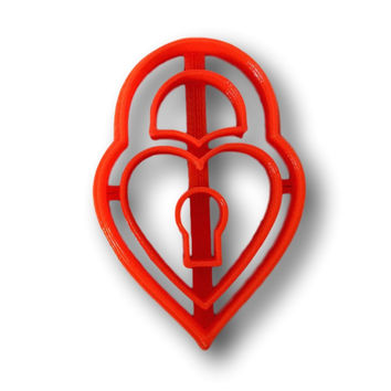 Key Lock Cookie Cutter