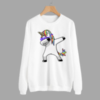 Women'S Printed Round Neck Long-Sleeved Sweater