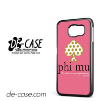 Kate Spade Phi Mu DEAL-6098 Samsung Phonecase Cover For Samsung Galaxy S6 / S6 Edge / S6 Edge Plus