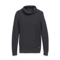 Cabled Cowl Neck Sweater | Tommy Hilfiger USA