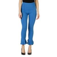 Pinko Blue Viscose Trouser
