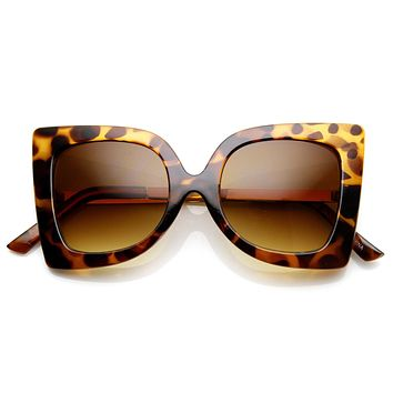 Womens Oversize Fashion Butterfly Shape Sunglasses 9225