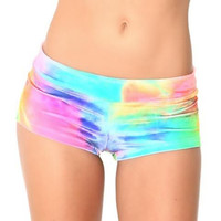 Multicolor Print Tight Shorts Beach Shorts