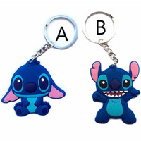 keychain Lilo Stitch key chain car motorcycle ring holder keyring Pendant chaveiros llavero porte clef sleutelhanger berloques