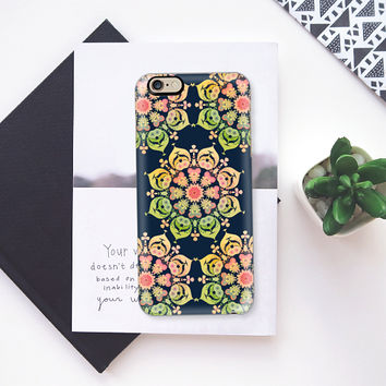 Spring Flower on indigo blue iPhone 6s case by Heaven Seven | Casetify