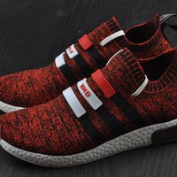 Best Online Sale Adidas Original Mega Boost NMD Omega Red Sport Running Shoes Classic Casual Shoes Sneakers