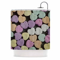 """Cristina Mitchell """"Candy Love"""" Photography Pink Shower Curtain"""