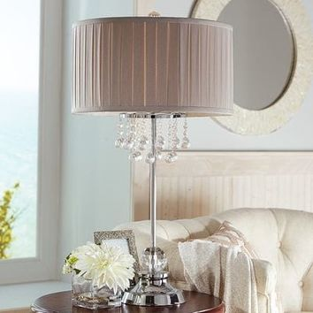 Ivory Elegant Dangles Table Lamp