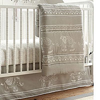 Levtex Baby Baby Ely Grey 5 Piece Crib Bedding Set