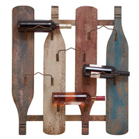 """Wall Durable Wine Holder with 6 Bottle Holders 27"""" x 30"""""""