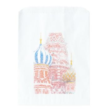 St Basil's Cathedral In Snowstorm Favor Bag