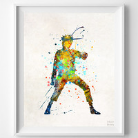 Naruto Print, Watercolor Art, Animation, Painting, Manga Poster, Illustration Art, Anime, Watercolour, Back To School