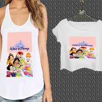 Disney Characters For Woman Tank Top , Man Tank Top / Crop Shirt, Sexy Shirt,Cropped Shirt,Crop Tshirt Women,Crop Shirt Women S, M, L, XL, 2XL**