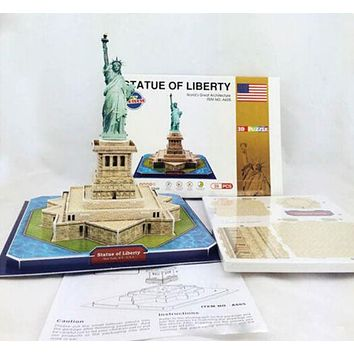 Educational 3D Model Puzzle Jigsaw the Statue of Liberty DIY Toy