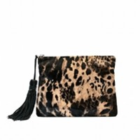 The Dash Jaguar Calf Hair Clutch
