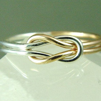 Infinity Knot Ring / Promise Ring / Wedding Ring / Best Friend Ring / Nautical Ring / Sisters Ring / Mother Daughter Ring