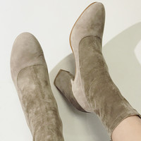 Suede Thick Heel Boots