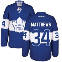 Men's Reebok Toronto Maple Leafs #34 Auston Matthews Premier Royal Blue 2017 Centennial Classic NHL Jersey