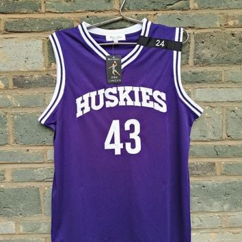 LIANZEXIN K.Tyler #43 Jersey Huskies The 6th Marlon Wayans Kenny Tyler Basketball movie Jerseys Purple Color For Men