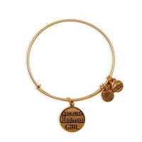 Alex and Ani Because I Am A Girl Charm Bangle - Russian Gold