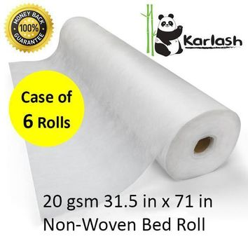 Karlash Disposable Non Woven Bed Sheet Roll Massage table paper roll 20gms Thick (PACK OF 6)