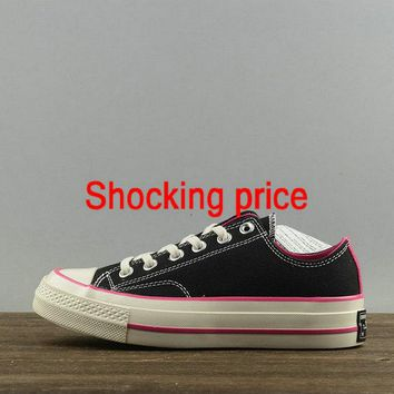Original Women Converse Chuck Taylor All Star CT 70 Ox Black Pink White 157561 sneaker