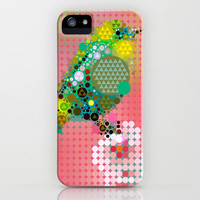Green bird iPhone & iPod Case by Deniz Erçelebi