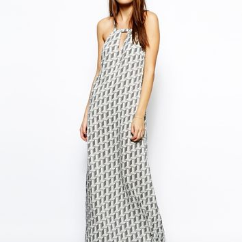 BCBGeneration Maxi Dress in Geo Print